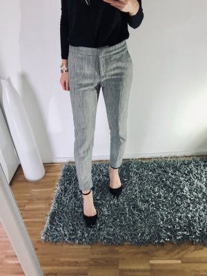 H&M Pleated Trousers grey-grey brown