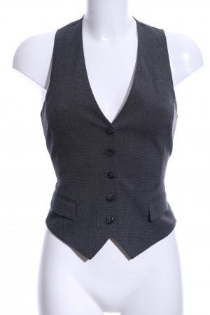 H&M Waistcoat black check pattern business style
