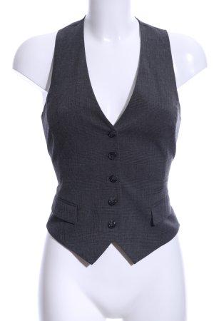 H&M Gilet de costume noir motif à carreaux style d'affaires