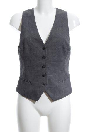 H&M Gilet de costume gris clair-noir motif à carreaux style d'affaires