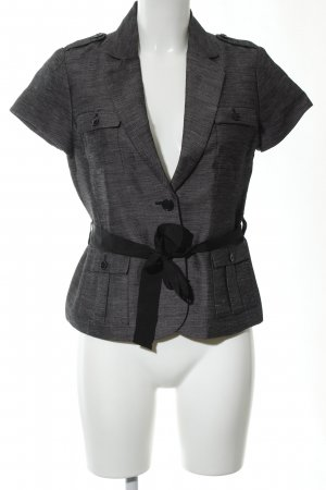H&M Waistcoat light grey-black flecked business style