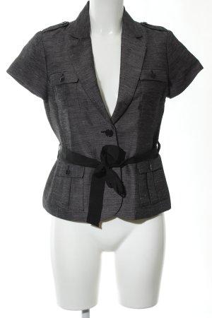 H&M Gilet de costume gris clair-noir moucheté style d'affaires