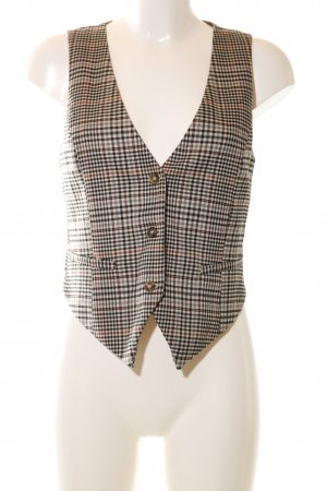 H&M Waistcoat nude-black allover print business style