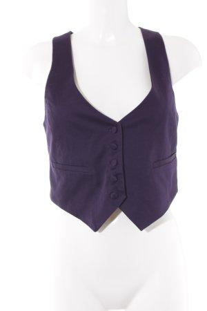 H&M Anzugweste dunkelviolett Elegant