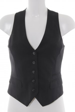 H&M Waistcoat black business style