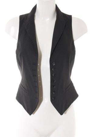 H&M Gilet nero motivo a righe stile professionale