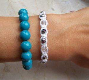 H&M Armbänder blau/weiß