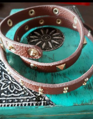 H&M Leather Bracelet gold-colored-brown