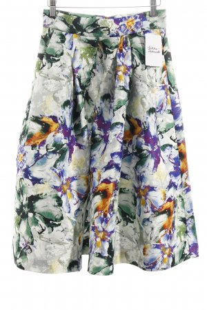 H&M Asymmetrie-Rock florales Muster Casual-Look