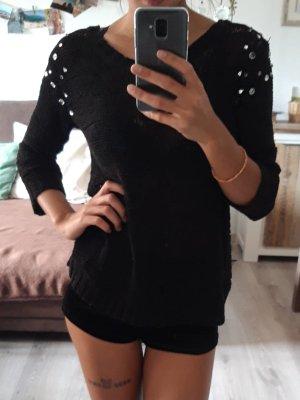H&M Ausgehpulli / Partywear, Schwarz Größe XS