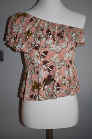 H&M Haut avec une épaule dénudée multicolore