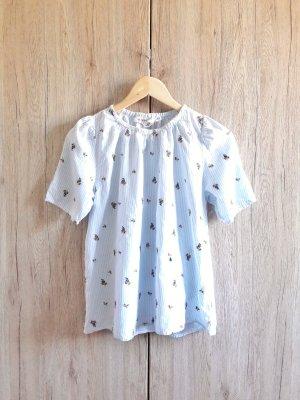 H&M Camicia a tunica azzurro-bianco