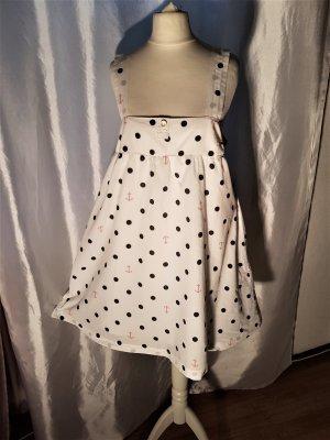 H&M Babydoll Dress white-red cotton
