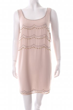 H&M Babydoll Dress beige Sequin ornaments