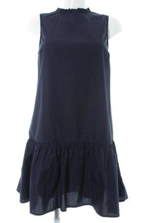 H&M Vestido babydoll azul oscuro look casual