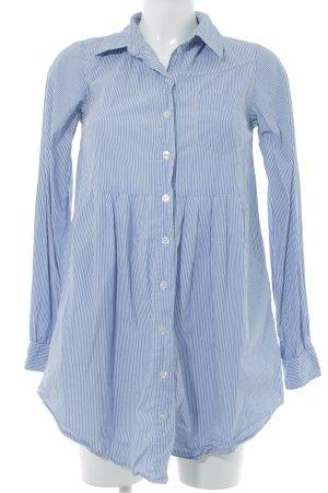 H&M Vestido babydoll azul celeste-blanco estampado a rayas look casual