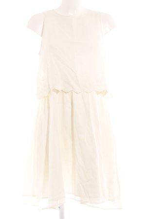 H&M Vestido babydoll blanco puro look casual