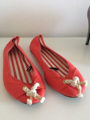 H&M Ballerinas red