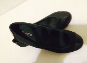 H&M Patent Leather Ballerinas black-dark green