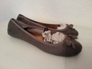 H&M Ballerinas Gr.37 NEU! grau Wildleder Optik Blogger Fashionista
