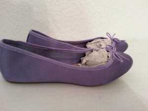H&M Ballerinas Gr.37 Neu! lila Satin Fashionista Blogger sold out