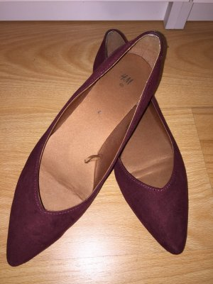 H&M Ballerinas bordeaux