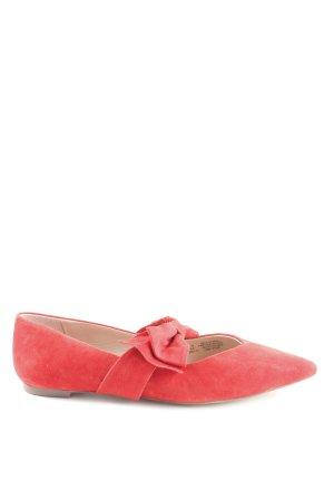 H&M Ballerinas mit Spitze rot extravaganter Stil