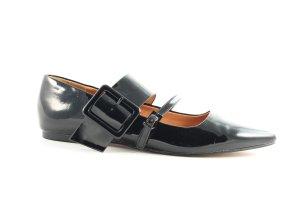 H&M Ballerinas mit Spitze schwarz Eleganz-Look
