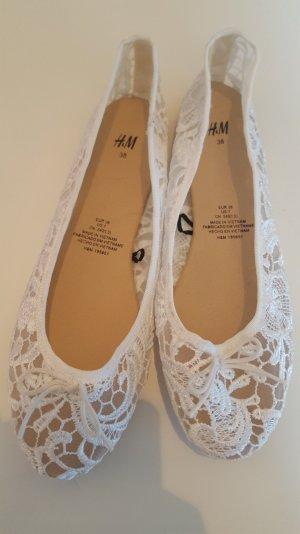 H&M Ballerinas Sommerschuhe weiß transparent