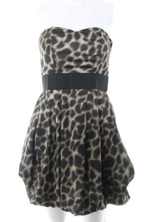 H&M vestido de globo camel-marrón estampado de leopardo estampado animal