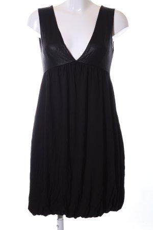 H&M vestido de globo negro look casual