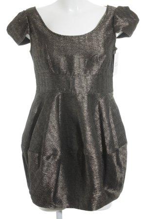 H&M Ballonkleid dunkelbraun-bronzefarben Elegant