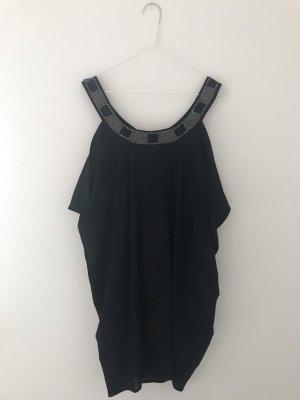 H&M vestido de globo negro-color plata