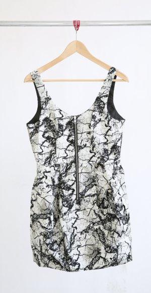 H&M Ballonkleid schwarz/weiß