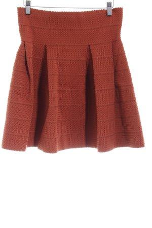 H&M Gonna a palloncino arancione scuro spina di pesce stile da moda di strada