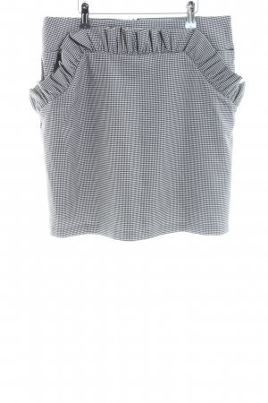 H&M Balloon Skirt light grey-white check pattern casual look