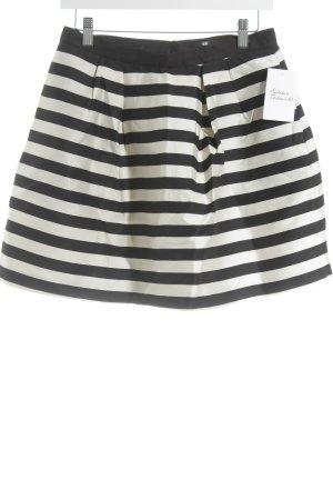 H&M Ballonrock schwarz-creme Streifenmuster Street-Fashion-Look