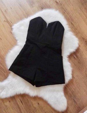 H&M Bandeau Overall Jumpsuit | schwarz | Gr. 40