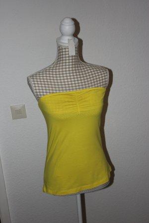 H&M Bandeau Top *NEU* Jerseytop Gr. S/M gelb