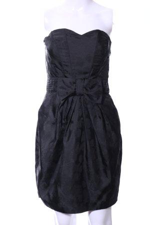 H&M Vestido bandeau negro elegante