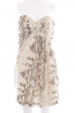 H&M Bandeau Dress cream-bronze-colored allover print elegant