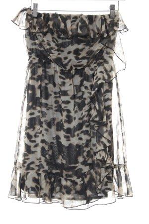 H&M Abito a fascia beige-marrone-grigio Stampa leopardata stile casual