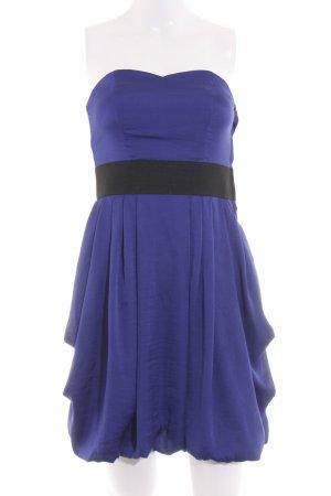 H&M Vestido bandeau azul-negro look casual