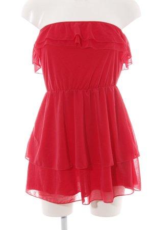 H&M Abito a fascia rosso stile casual