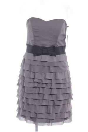 H&M Bandeaukleid dunkelgrau-schwarz Elegant