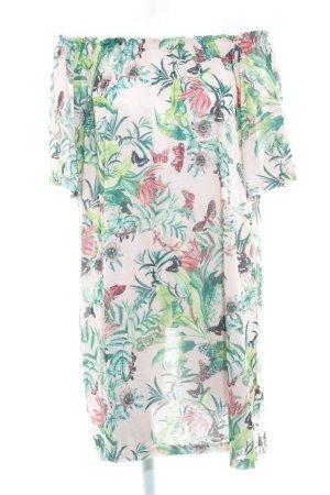 H&M Bandeau Dress floral pattern casual look
