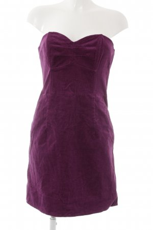 H&M Bandeaukleid lila Casual-Look