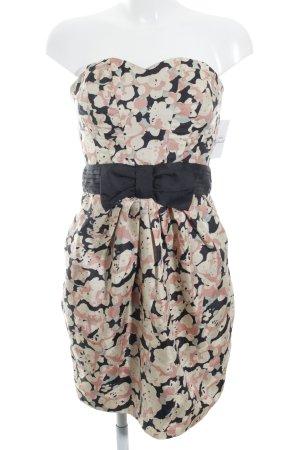 H&M Vestido bandeau multicolor elegante