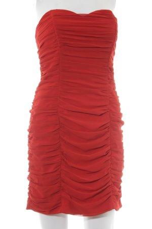 H&M Abito a fascia rosso elegante