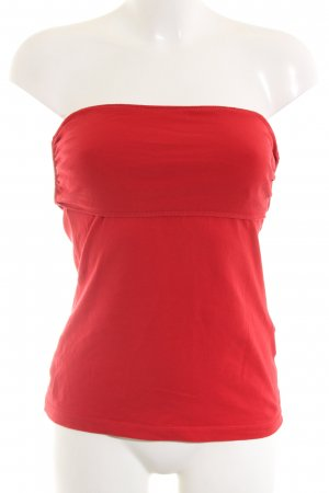 H&M Bandeau Top red casual look